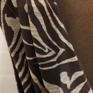Dresses - Brown zebra print dress.